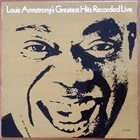 LOUIS ARMSTRONG Greatest Hits Recorded Live album cover