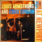 LOUIS ARMSTRONG Louis Armstrong and Eddie Condon ‎: At Newport album cover