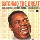 LOUIS ARMSTRONG Louis Armstrong and Edward R. Murrow With Leonard Bernstein ‎: Satchmo The Great album cover