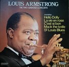 LOUIS ARMSTRONG The Two Greatest Concerts album cover