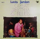 LOUIS JORDAN Great Rhythm & Blues Vol.1 album cover