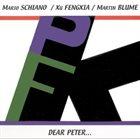 MARIO SCHIANO Dear Peter (with Xu Fengxia / Martin Blume) album cover