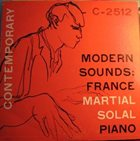 MARTIAL SOLAL Modern Sounds: France album cover
