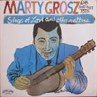 MARTY GROSZ Sings of Love & Other Matters album cover