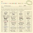 MATTHEW HERBERT The Matthew Herbert Big Band : There's Me And There's You album cover