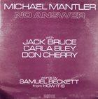 MICHAEL MANTLER No Answer album cover