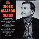 MOSE ALLISON Mose Allison Sings album cover