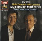 NIGEL KENNEDY Nigel Kennedy / André Previn / The Royal Philharmonic Orchestra ‎: Walton - Violin Concerto • Viola Concerto album cover