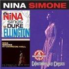 NINA SIMONE Sings Duke Ellington / At Carnegie Hall album cover