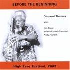 OLUYEMI THOMAS Before The Beginning album cover