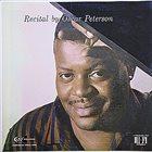 OSCAR PETERSON Recital album cover