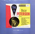 OSCAR PETERSON This Is Oscar Peterson At The Piano album cover