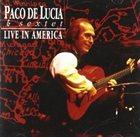 PACO DE LUCIA Live in America album cover