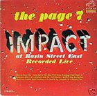 PAGE CAVANAUGH Impact At Basin Street East album cover
