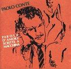 PAOLO CONTE Parole d'amore scritte a macchina album cover