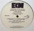 PAT METHENY An Hour With Pat Metheny album cover