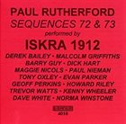 PAUL RUTHERFORD Sequences 72 & 73 album cover