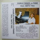 PAUL SMITH Charlie Parker For Piano album cover