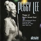 PEGGY LEE (VOCALS) Peggy At Basin Street East album cover
