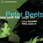 PETER BEETS New York Trio Page Two album cover