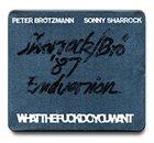 PETER BRÖTZMANN Peter Brötzmann / Sonny Sharrock : Whatthefuckdoyouwant album cover