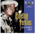 PINETOP PERKINS Live At Antone's Vol. 1 album cover
