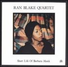RAN BLAKE Short Life of Barbara Monk (w/Ricky Ford) album cover
