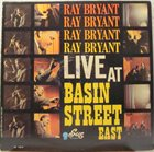 RAY BRYANT Live at Basin Street album cover