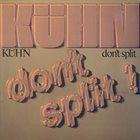 ROLF KÜHN Don't Split album cover