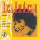 ROSA HENDERSON 1923-1931 album cover