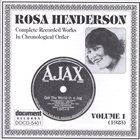 ROSA HENDERSON Complete Recorded Works, Vol. 1 (1923) album cover