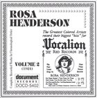 ROSA HENDERSON Complete Recorded Works, Vol. 2 (1924) album cover