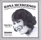 ROSA HENDERSON Complete Recorded Works, Vol. 4 (1926-1931) album cover