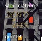 SABIR MATEEN Secrets of When album cover