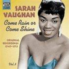 SARAH VAUGHAN Come Rain or Come Shine album cover