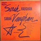SARAH VAUGHAN Sings album cover