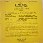 STAN GETZ Stan Getz And Swedish All Stars Featuring Bengt Hallberg ‎: Vol. 2 album cover