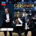 STEFANO BOLLANI Gershwin : Rhapsody In Blue, Piano Concerto In F album cover