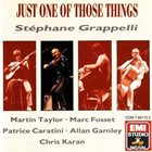 STÉPHANE GRAPPELLI Just One Of Those Things album cover