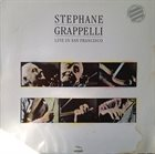 STÉPHANE GRAPPELLI Live In San Francisco album cover