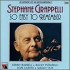 STÉPHANE GRAPPELLI So Easy To Remember album cover