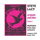 STEVE LACY Avignon And After Volume 1 album cover