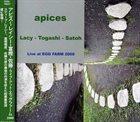 STEVE LACY Lacy , Togashi , Satoh : Apices album cover