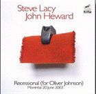 STEVE LACY Recessional for Oliver Johnson album cover