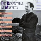 TED ROSENTHAL Live at Maybeck 38 album cover