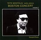 TETE MONTOLIU Boston Concert Vol. 2 album cover