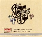 THE ALLMAN BROTHERS BAND Instant Live, Meadows Music Theatre, Hartford, CT 8/3/03 album cover