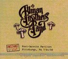 THE ALLMAN BROTHERS BAND Instant Live, Post-Gazette Pavilion, Pittsburgh, PA 7/26/03 album cover