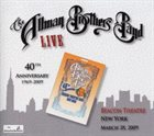 THE ALLMAN BROTHERS BAND Live at Beacon Theatre, New York - March 28, 2009 album cover