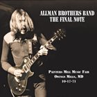 THE ALLMAN BROTHERS BAND The Final Note album cover